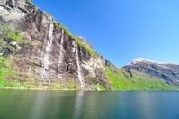Waterfall at fjord