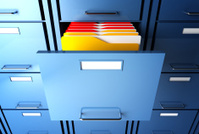 file cabinet and folder