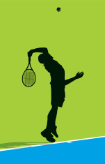 Serving Tennis Ball - Male