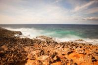 Rocky coast on the island of Curaçao, Netherlands Antilles