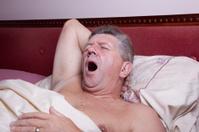 man waking