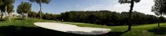 Golf bunker panorama
