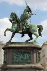 Crusader statue Bruxelles Belgium