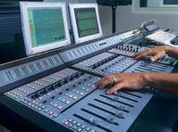 Music studio mixing desk