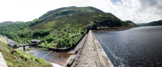 Elan Valley reservoir in mid-Wales