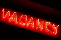 Orange Vacancy neon sign