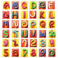 Colorful plasticine alphabet