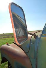 Side Mirror of Fifties Truck
