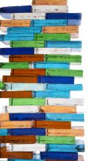 Colors glass columns