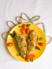 Italian Recipe with Fried Mackerel