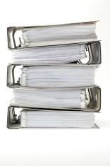 Stack of ring binders