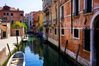 old Venetian streets. Venice, Italy