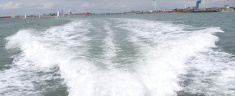 Wake from a speed boat