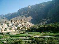 Village with terraces, Oman