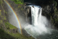 Rainbow Created By Snoqualmie Falls