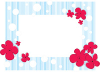 Frame for photo with abctract flowers