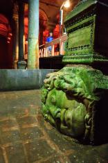 Medusa's Head, Basilica Cistern, Sultanahmet, Istanbul, Turkey