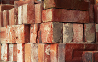 Bricks at Construction Site Closeup