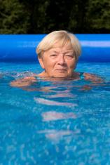 Swimming Older Woman