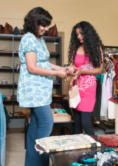 Salesperson Assisting Shopper