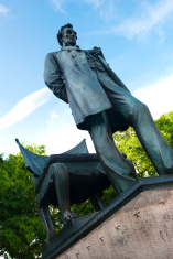 """Standing Lincoln"" statue in Chicago, IL"