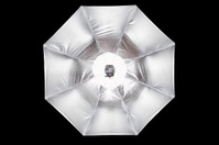 Flash unit with umbrella