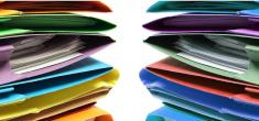 Stacks of Document Folders