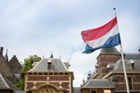 Binnenhof with Dutch Flag, parliament building, The Hague