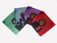 Colorful floppy discs