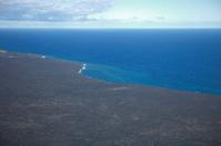 Hawaiian Coastline Lava Flow And Pacific Ocean