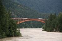 Alexandra Bridge across Fraser River north of Hope, BC.