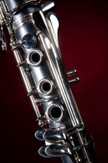 Clarinet Isolated Red Spotlight
