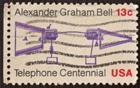 Telephone Centennial Postage Stamp