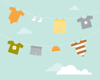 Baby Boy Clothesline