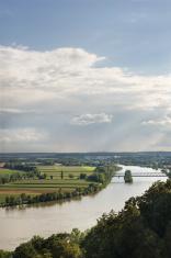 View over the Donau (Danube) river
