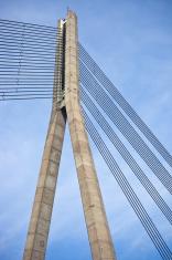 Vansu Bridge In Riga, Latvia