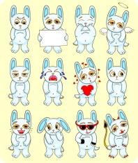 funny hare set