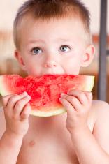 Little Boy Eating Watermelon
