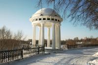 Winter city landscape