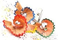 colored pencil shaving