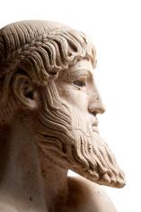 Greek god in profile horizontal