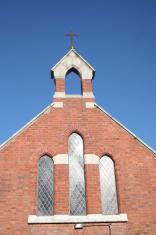 church cross and windows
