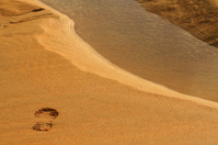 Footprint before stream jump