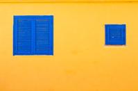 wooden shuttered windows
