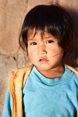 Peruvian girl, Chivay, Peru