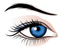 Female eye illustration