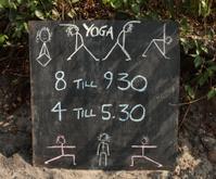 Yoga sign in Goa