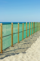 Cote d'Argent - Fence on the beach