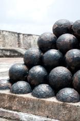 Cannonballs  The El Morro Fort  San Juan,Puerto Rico