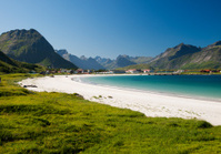 Lofoten sand beach